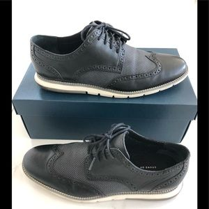 Cole Haan size 10 Grand OS Black and Grey wingtips